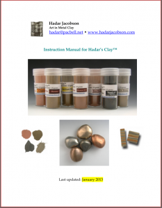 Instruction Manual for Hadar's Clay™