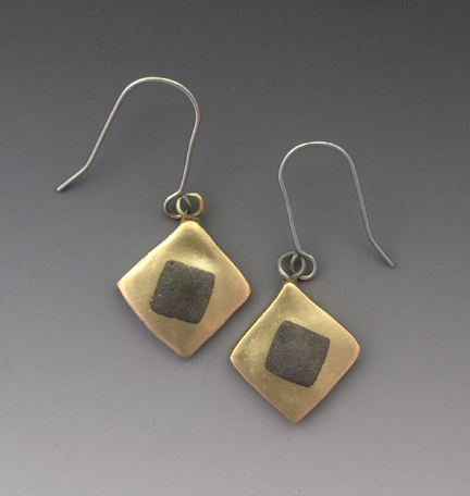 Bronze steel earrings