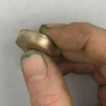 Thick bronze piece