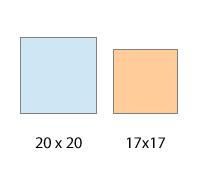 Squares-shrinkage
