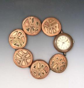 Mokume-gane watchband